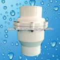 retención de agua de plástico de la válvula