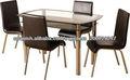 moderna mesa de comedor y una silla