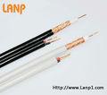 Rg59/rg6 cable coaxial 2 con cable de alimentación