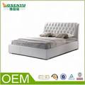diseño de estilo europeo moderno cama doble cama