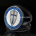 Azul caballero templario cruz de la moneda/1 troy oz plata caballeros templarios de la moneda