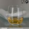 Vaso de cristal de whisky copa 360ml/12.7oz libre de plomo de cristal de vidrio decorado de vasos de vidrio