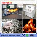 máquina de quemar biomasa verde
