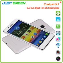 Nueva llegada de 5,5 pulgadas Coolpad K1 Quad Core 1GB RAM 4 GB ROM Android dual sim 4g lte teléfono