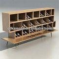 móveis de madeira para decoração de loja de calçados