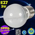 2014 caliente la venta de productos de ahorro de energía e27 3w bombilla led de luz para la decoración del hogar