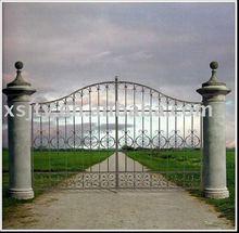 puerta de acero de acero de la puerta de hierro forjado decorativo de la puerta