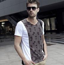 100% del algodón de los hombres baratos camisetas personalizadas