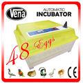 2014 más popular buen precio fácil de usar 12v incubadora 48 huevos de mini incubadora para la venta