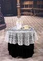 100% polyester mantel de encaje redondo