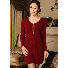 vestido de suéter de cachemira Mujer