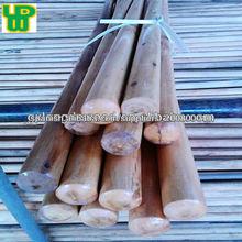 Venta directa de fábrica barnizada palo de escoba de madera