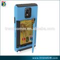 titular de la tarjeta recambios del teléfono móvil cubiertas del teléfono de diseño combo para samsung nota 4