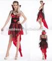 de lujo vampiress vestido de las señoras traje de halloween vampiro horror para mujer traje