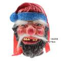 navidad baile de máscaras de látex de santa claus máscara de la cara