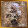 el más reciente moderna hecha a mano de flores impresionista pintura al óleo para la decoración