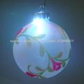 bola de cristal pintado a mano agradecido / LED decoraciones de Navidad de luz