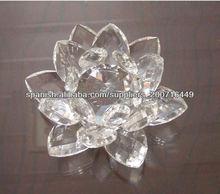 Colorido de la flor de loto de cristal