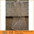 em forma geométrica da cortina do bordado tecido puro