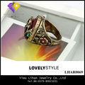 Grande de la manera Resina Anillo antiguo del oro para las mujeres anillo Masónico