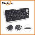 10 pulgadas teclado de la computadora, 2.4g inalámbrico teclado para juegos de rueda de desplazamiento del ratón para pc