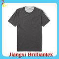 Contraste de color de vuelta de algodón jersey t- shirt llanura t- shirt con bolsillos