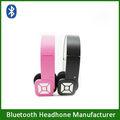 Hifi inalámbrica bluetooth headset diseño plegable