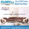 Sofá de canto de couro F822