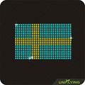 Suecia adorno de la bandera rhinestone