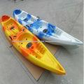 Doble siéntese en la parte superior de kayak