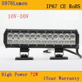 Doble fila CREE BARRA 72W 5976Lumen IP67 6000K Para Los Vehículos