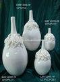 de marfil jarrón de cerámica para la decoración del hogar
