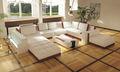 alta qualidade sofá de canto de couro S8588