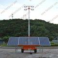 solar móvil llevó torre de iluminación