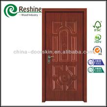 decorativos de melamina laminado de madera de la puerta de la piel