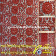 Yjc6507-1 padrão de flor de tecido de organza bordada vestido de festa