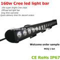 Clb 160w cree led barra de luz para el vehículo todo terreno, el deber heavty, de la agricultura