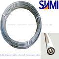 Industrial de aceroinoxidable vaina n tipo duplex 4.0mm 4- núcleo de mi cable de termopar