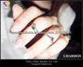 Anillo midi color de la manera DIY, los últimos diseños del anillo de oro