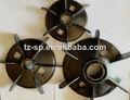 De plástico del ventilador para blace ac motor eléctrico- piezas de repuesto para el compresor de aire