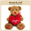 venta al por mayor de san valentín suave osos de peluche con el corazón