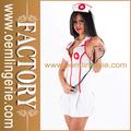 caliente de la venta al por mayor blanco enfermeras sexys trajes de disfraces