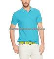 100% de algodón de color turquesa camisa de polo para hombres