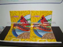uso alimentario bolsa de aves bopp tejida, bolsa de alimento de las aves, la bolsa de alimentación de aves