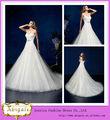 Venda quente marca de chão de comprimento um- linha de neckline do querido botão back vestidos de casamento da china( bg757)