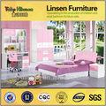 8811 caliente venta de mdf de madera acabado de alto brillo real modelo de los niños muebles de dormitorio