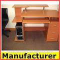 Venta caliente morden de oficina de madera de la computadora de escritorio de pie/mesa/escritorios de la computadora