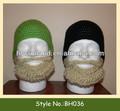 crochet 036 barba rubio sombrero con bigote