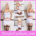 fábrica al por mayor de moda las mujeres caliente sexy disfraz enfermera blanco