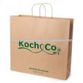 de color marrón de papel llevar bolsas con giro manija de papel